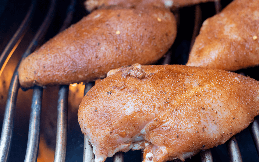 Grill the chicken for Enchiladas