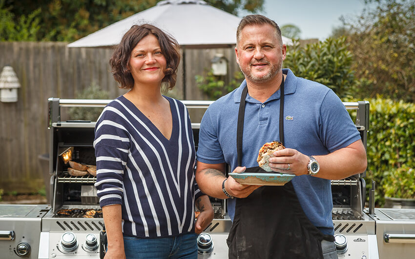 Genevieve Taylor and Darren Gough
