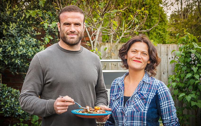 Jamie Roberts and Genevieve Taylor