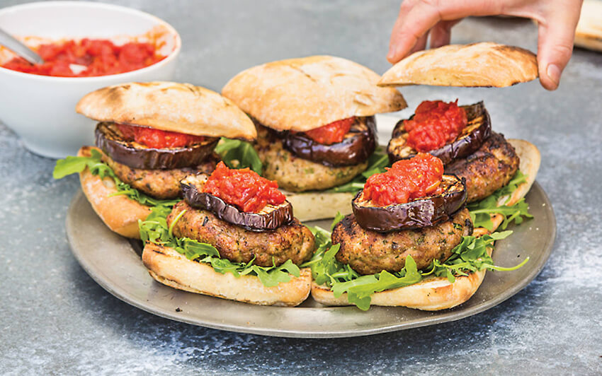 Pork Fennel Burgers