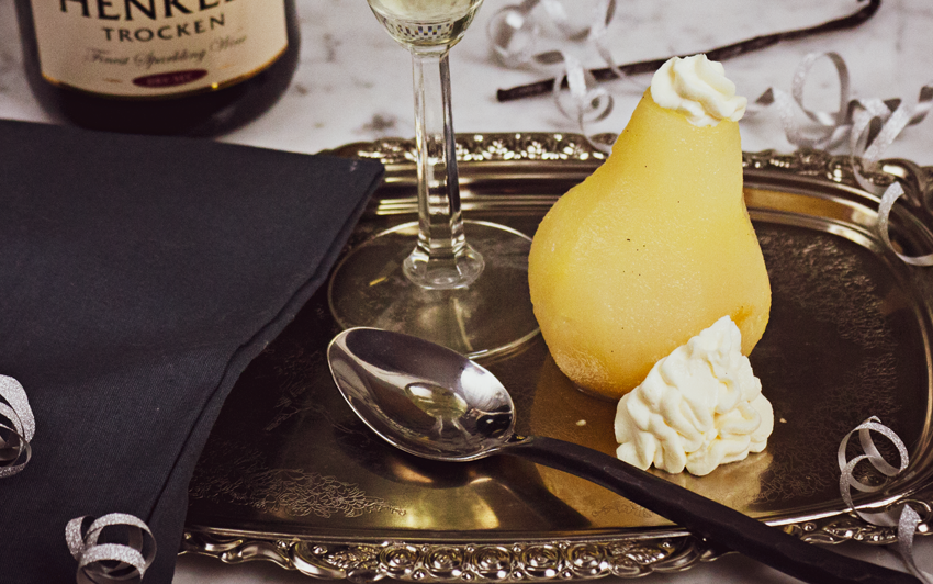 Recipe Blog - Champagne Pears with Cheesecake - serve2
