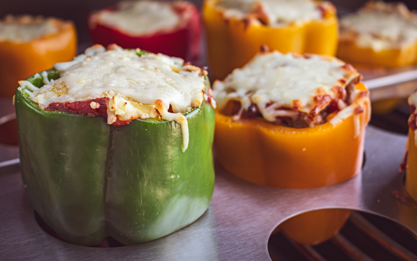 Recipe Blog - Lasagna Stuffed Peppers - grill2