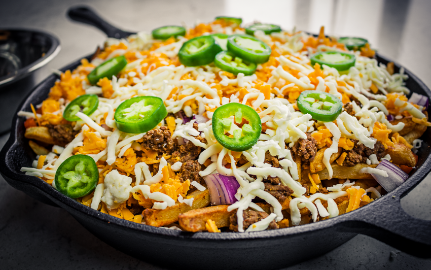 Recipe Blog - Fully Loaded Nacho Fries - Assemble