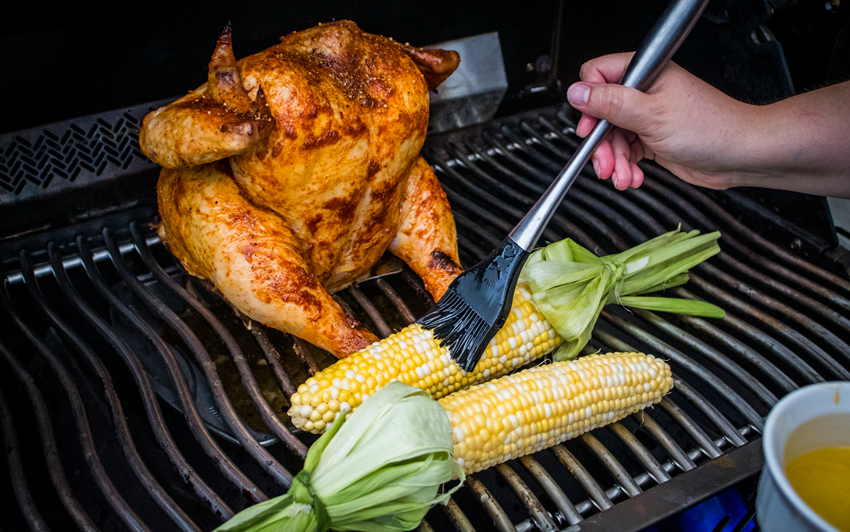Recipe Blog - Memphis Style Beer Can Chicken - Grill2