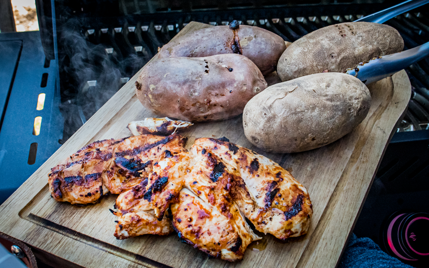 Recipe Blog - BBQ Chicken Baked Potato - Grill