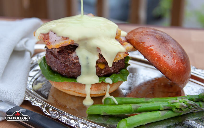 top with hollandaise