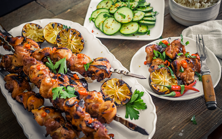 RecipeBlog - Thai Grilled Chicken Skewers - serve1
