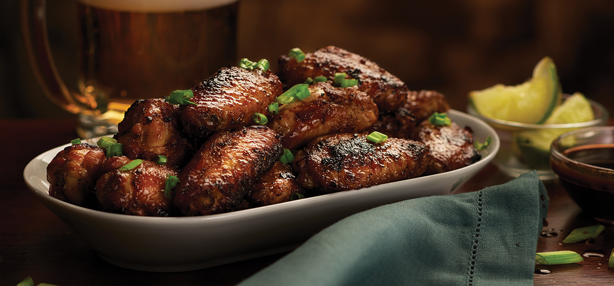 Feature - Teriyaki Garlic Peppered BBQ Chicken Wings
