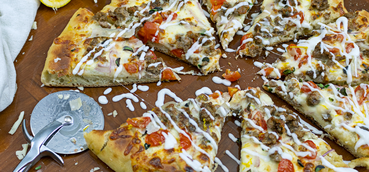 Bbq Lamb Pizza Recipe With Homemade Donair Sauce
