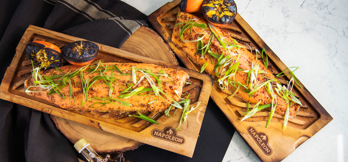 Recipe For Cedar Planked Trout With Maple Mustard Glaze