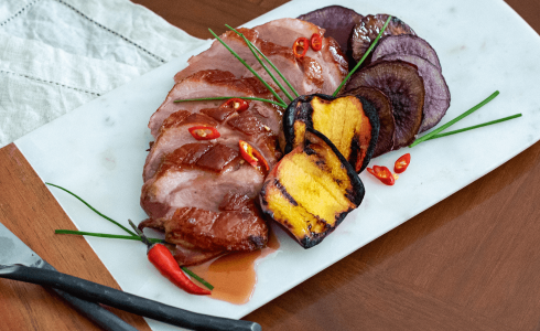 Feature - Firemasters Duck with Peaches