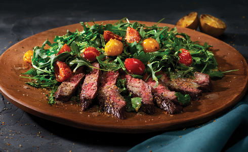 Feature - Steak Salad With Lime Wasabi Dressing
