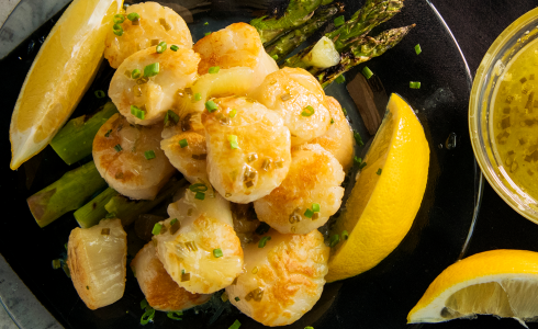 Recipe Blog - HD Recipe -Feature - Salt Block Scallops