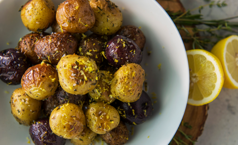 Recipe Blog - Feature - HD Recipes - Vegan Rotisserie Potatoes