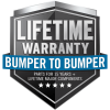 Lifetime Warranty - Bumper to Bumper