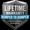 Lifetime Warranty - Bumper to Bumper